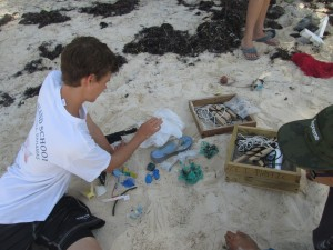 IS students beach plastic survey