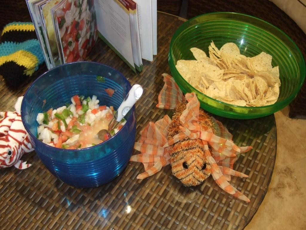 Lionfish salad! A delicious hit!