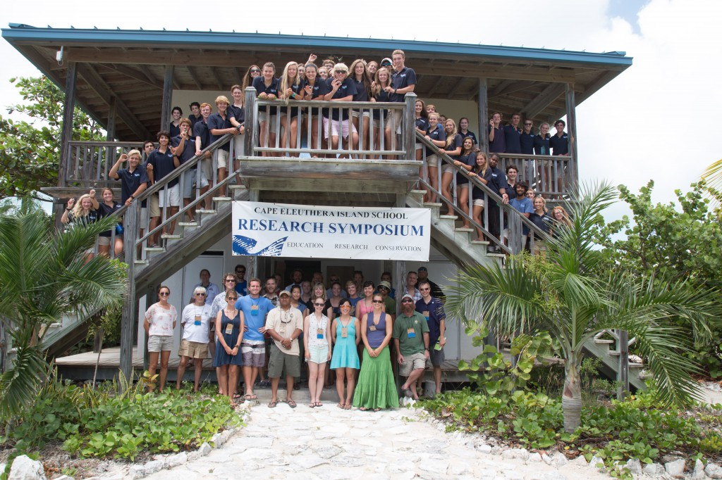 A group photo of the Spring 2014 Island School students.