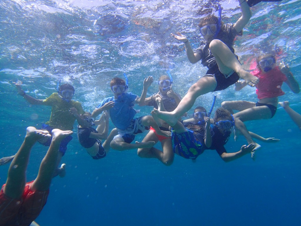 Brookwood Educational Programs ocean snorkel
