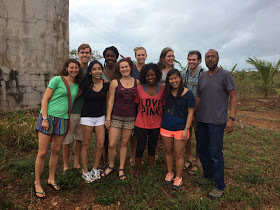 The Williams College group with Nassau resident Mr. Bhatti. Read more on their blog about their visit!
