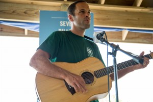 Musician Jack Johnson plays a few songs at the UNEP Designation where he was recognized as a Goodwill Ambassador.