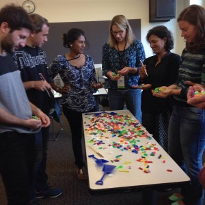 Fellows play a game created by The Environmental Defense Fund, Catch-Shares to enable fishers to take ownership of their fisheries and negotiate solutions
