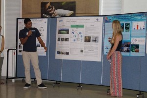 Christian McIntosh presenting at the Abaco Science Alliance Conference