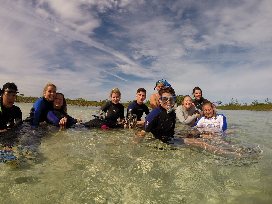 gappers in Page Creek learning about the importance of mangroves and their role in the greater ocean ecosystem.