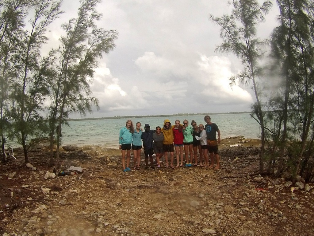 Spring Island School class 2016 after a day of sampling seagrass
